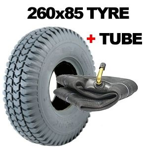 3.00-4 Mobility Scooter Tyres Rear Fitting 260x85 Tyre Grey NONE MARKING